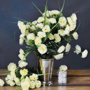 252 Wholesale Carnation Flowers Wedding Vase Centerpiece Decor - Cream