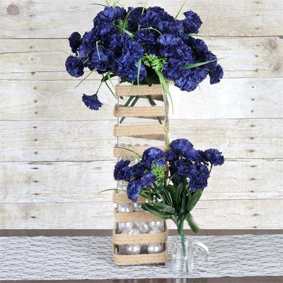 12 Bush 252 Pcs Navy Blue Artificial Mini Carnation Flowers