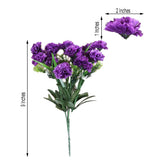12 Bush 252 Pcs Purple Artificial Mini Carnation Flowers