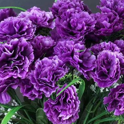 252 Wholesale Carnation Flowers Wedding Vase Centerpiece Decor - Purple