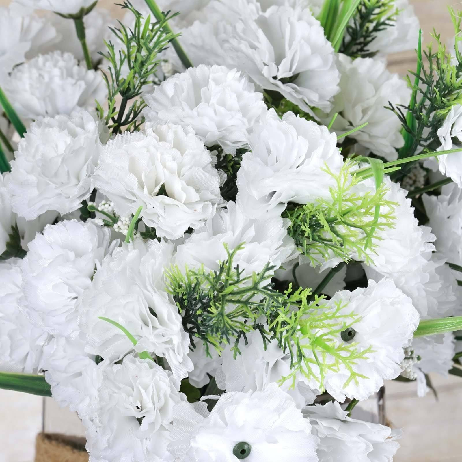 252 Wholesale Carnation Flowers Wedding Vase Centerpiece Decor ...
