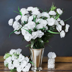 252 Wholesale Carnation Flowers Wedding Vase Centerpiece Decor - White