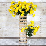 252 Wholesale Carnation Flowers Wedding Vase Centerpiece Decor - Yellow
