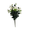 4 Bush 120 Pcs Fushia Artificial Silk Gardenias Flowers