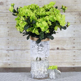 120 Wholesale Artificial Silk Gardenias Flowers Wedding Vase Centerpiece Decor - Lime