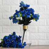 120 Wholesale Artificial Silk Gardenias Flowers Wedding Vase Centerpiece Decor - Royal Blue