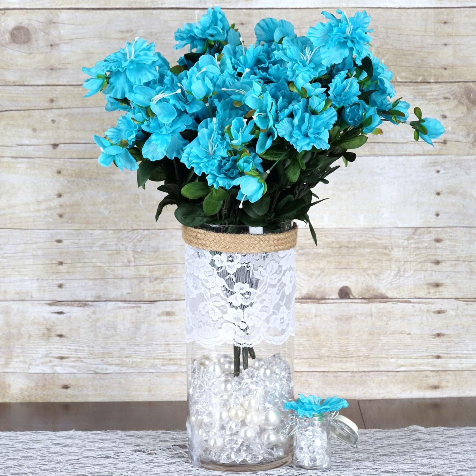 120 Wholesale Artificial Silk Gardenias Flowers Wedding Vase ...