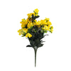 4 Bush 120 Pcs Yellow Artificial Silk Gardenias Flowers