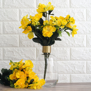 120 Wholesale Artificial Silk Gardenias Flowers Wedding Vase Centerpiece Decor - Yellow