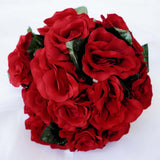 4 Pack 56 Pcs Black/Red Artificial Velvet Rose Flowers