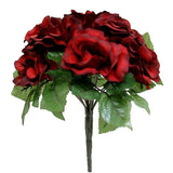 4 Pack 56 Pcs Black/Red Artificial Velvet Rose Flowers - Clearance SALE