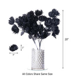 4 Bush 56 Pcs Chocolate Artificial Giant Silk Chrysanthemum Flowers - Clearance SALE