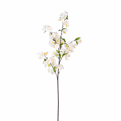 "10 Pack | 40"" Tall Cream Silk Faux Cherry Blossoms Branches"