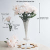 12 Bush 72 pcs Blush | Rose Gold Artificial Silk Daffodil Flowers