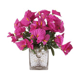 12 Bush 252 Pcs Fushia Artificial Mini Calla Lilies Flowers - Clearance Sale