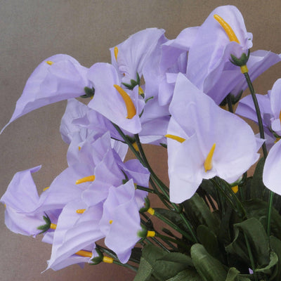 252 Wholesale Artificial Mini Calla Lilies Wedding Flower Vase Centerpiece Decor - Lavender