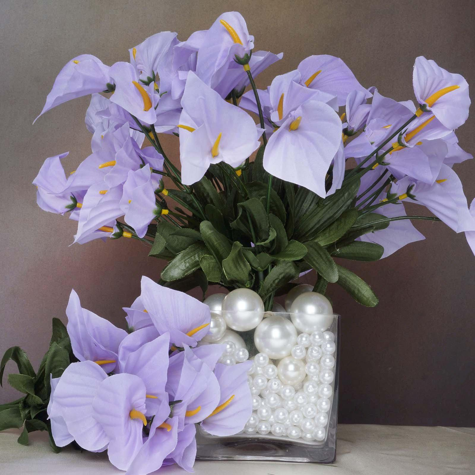 12 bush 252 pcs lavender artificial mini calla lilies flower wedding 252 wholesale artificial mini calla lilies wedding flower vase centerpiece decor lavender izmirmasajfo