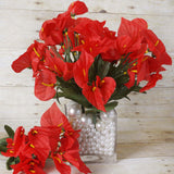 12 Bush 252 Pcs Red Artificial Mini Calla Lilies Flower Wedding Vase Centerpiece Decoration