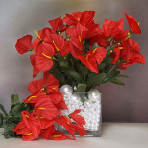 252 Wholesale Artificial Mini Calla Lilies Wedding Flower Vase Centerpiece Decor - Red