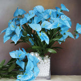 252 Wholesale Artificial Mini Calla Lilies Wedding Flower Vase Centerpiece Decor - Turquoise