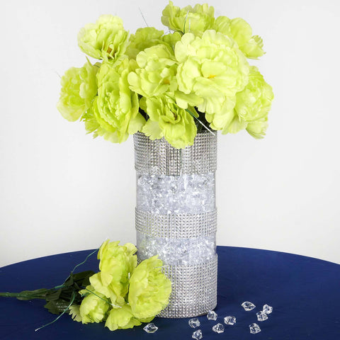 60 artificial lime green peony silk flowers bridal bouquet home 60 wholesale artificial bridal bouquet peony silk flowers home wedding party d233cor mightylinksfo Images