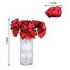 12 Bush 60 Pcs Red Artificial Silk Peony Flowers