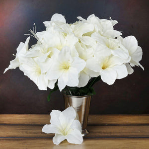 60 Artificial Eastern Lily Wedding Flower Vase Centerpiece Decor - Cream