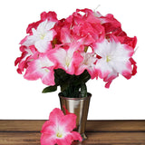 10 Bush 60 Pcs Fushia Artificial Silk Eastern Lily Flowers