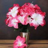60 Artificial Eastern Lily Wedding Flower Vase Centerpiece Decor - Fushia