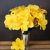 60 Artificial Eastern Lily Wedding Flower Vase Centerpiece Decor - Yellow