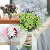6 Bush 144 Pcs White Amaryllis Artificial Silk Flowers - Clearance SALE