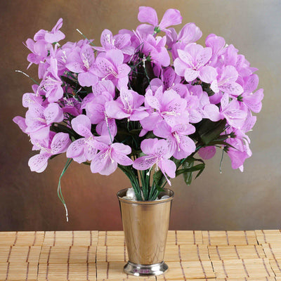 144 Wholesale Artificial Silk Amaryllis Flowers Wedding Vase Centerpiece Decor - Lavender