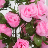 4 Bush Pink 96 Large Rose Buds Real Touch Artificial Silk Flowers