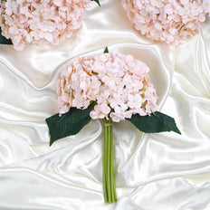 4 Pack Blush | Rose Gold Artificial Silk Hydrangeas Wholesale Flowers - Clearance SALE