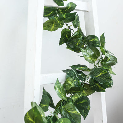 8FT Green UV Protected Ivy Silk Leaf Chain Artificial Garlands
