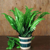 4 Fern Bushes Vine Fake Foliage For Home Decor - Green