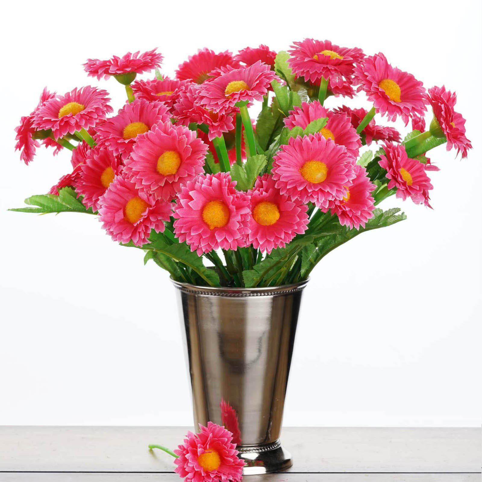108 wholesale artificial silk daisy flowers wedding vase centerpiece 108 wholesale artificial silk daisy flowers wedding vase centerpiece decor fushia izmirmasajfo