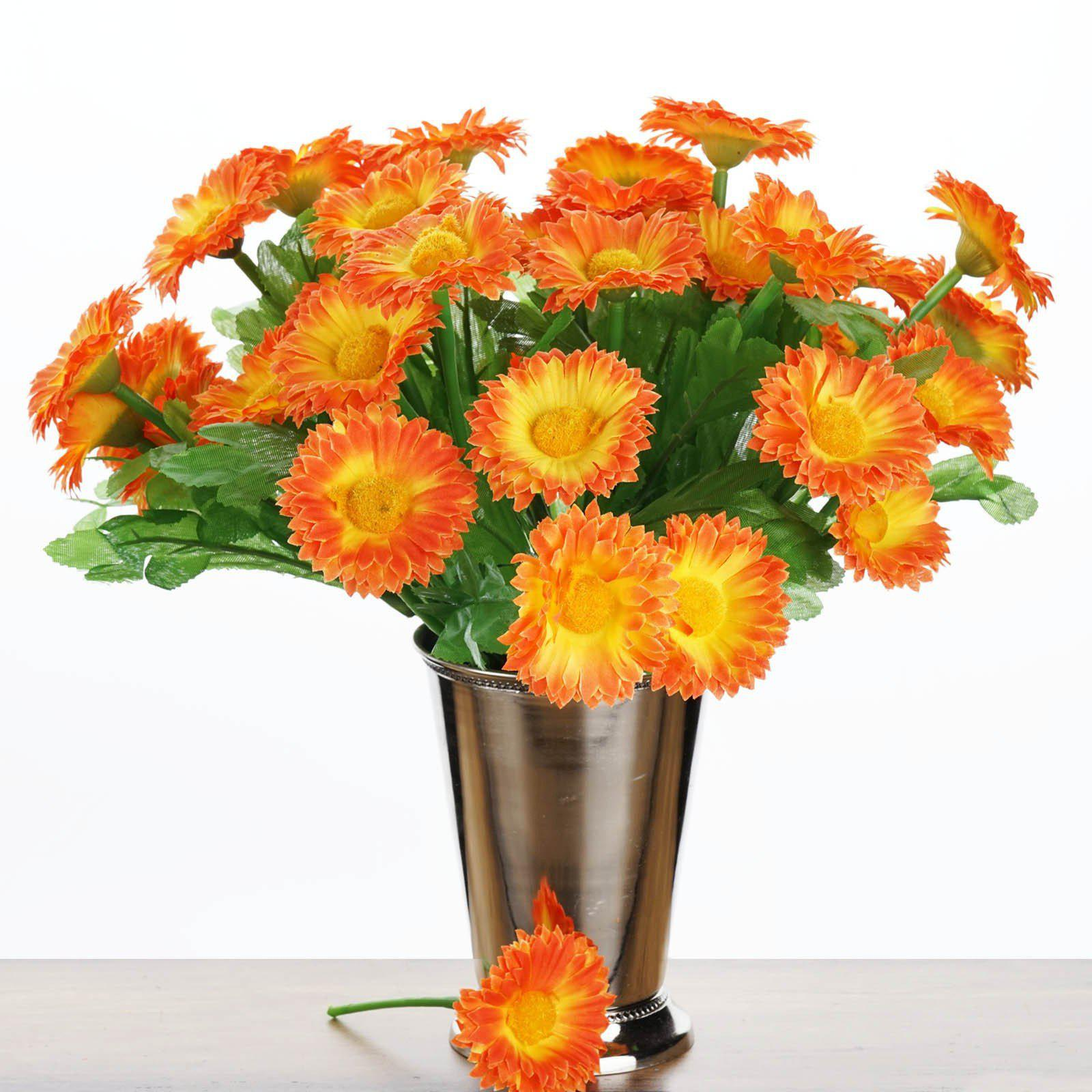 108 wholesale artificial silk daisy flowers wedding vase centerpiece 108 wholesale artificial silk daisy flowers wedding vase centerpiece decor orange izmirmasajfo