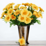 108 Wholesale Artificial Silk Daisy Flowers Wedding Vase Centerpiece Decor - Yellow
