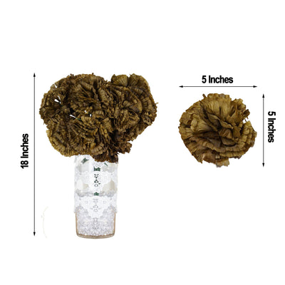 "4 Bushes | 36 Pcs | 18"" Chocolate Artificial Giant Silk Carnation Flowers"