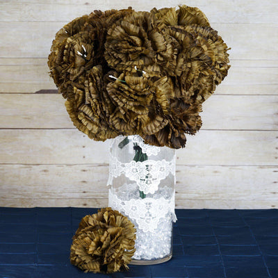 36 Giant Artificial Carnation Flowers Wedding Vase Centerpiece Decor  - Chocolate