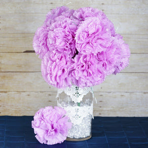 36 Giant Artificial Carnation Flowers Wedding Vase Centerpiece Decor  - Lavender
