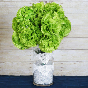 36 Giant Artificial Carnation Flowers Wedding Vase Centerpiece Decor  - Lime