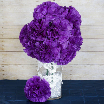 36 Giant Artificial Carnation Flowers Wedding Vase Centerpiece Decor  - Purple