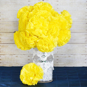 36 Giant Artificial Carnation Flowers Wedding Vase Centerpiece Decor  - Yellow