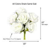 12 Pack 72 pcs Lime Green Artificial Foam Rose Flowers