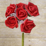 72 Beautiful Silk Roses Wedding Bouquet Vase Centerpiece Floral Decor  - Red
