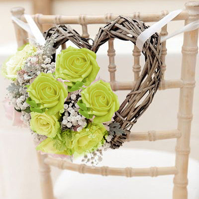 72 Artificial Silk Roses Bouquet Wedding Vase Centerpiece Decor - Lime