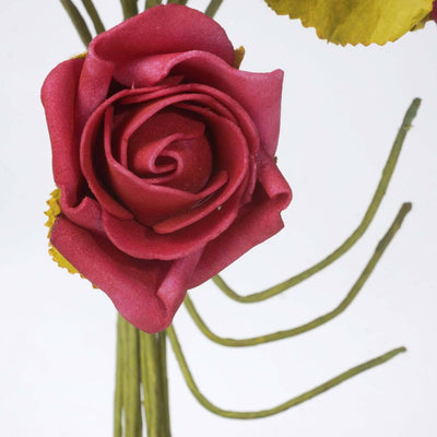 72 Artificial Silk Roses Bouquet Wedding Vase Centerpiece Decor - Red