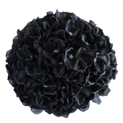 "4 Pack 7"" Black Silk Kissing Flower Hydrangea Balls"